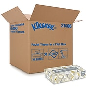Kleenex Standard Facial Tissue, 2-Ply, White, 125 Sheets/Box, 48 Boxes/Pack (21606)