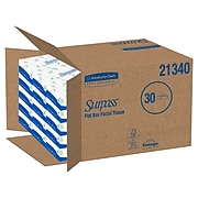 Surpass Standard Facial Tissue, 2-Ply, 100 Sheets/Box, 30 Boxes/Pack (21340)