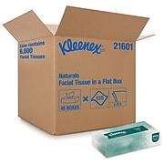 Kleenex Naturals Standard Facial Tissue, 2-Ply, 125 Sheets/Box, 48 Boxes/Pack (21601)