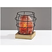 Simplee Adesso Faith Incandescent Table Lamp, Pink Himalayan Salt/Natural Wood/Black (SL1147-12)