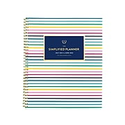 "2021-2022 AT-A-GLANCE 8.5"" x 11"" Academic Planner, Simplified by Emily Ley, Thin Happy Stripe (EL60-905A-22)"