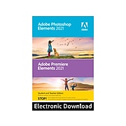 Adobe Photoshop Elements & Premiere Elements 2021 Student and Teacher Edition Photo and Video Editing for Windows, 1 User