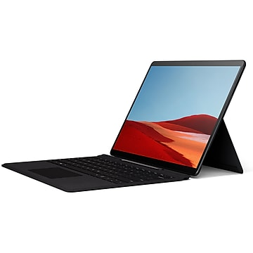 "Microsoft 13"" Touchscreen Surface Pro X, SQ1 3 GHz, 8GB Memory, 128GB SSD, Windows 10 Home, Matte Black (MJX-00001)"