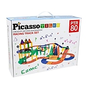 PicassoTiles Racing Track Set, Assorted Colors (PCPTR80)