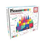 PicassoTiles 3D Magnetic Building Tiles, Assorted Colors (PCPT60)