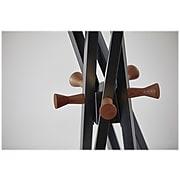 Adesso Andrew Coat Tree, Matte Black/Walnut Ash, Metal (WK2092-01)