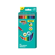 BIC Kids Colored Pencils, Assorted Colors, 24/Pack (BKCP24-AST)