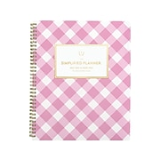 "2021-2022 AT-A-GLANCE 8.5"" x 11"" Academic Planner, Simplified, White/Pink (EL62-905A-22)"