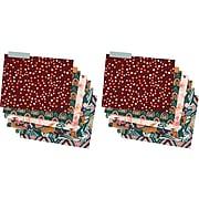 TF Publishing Boho File Folders, 1-Tab, Letter Size, Assorted Colors, 12/Pack (99-4004)