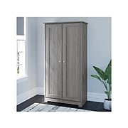 """Bush Furniture Cabot 61.14"""" Storage Cabinet with 4 Shelves, Modern Gray (WC31397-03)"""