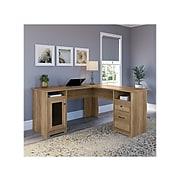 "Bush Furniture Cabot 60"" L-Shaped Desk, Reclaimed Pine (WC31530-03K)"