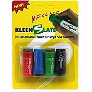 KleenSlate Erasers for Dry Erase Markers, Assorted Colors, 4 Erasers/Pack, 6 Packs/Bundle (KLS0432)