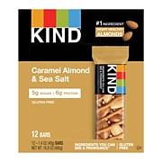 KIND Bar, Caramel Almond & Sea Salt, 1.4 Oz., 12/Box (PHW18533)
