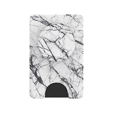 PopSockets PopWallet+ Dove White Marble Grip for iPhone 11 (802851)