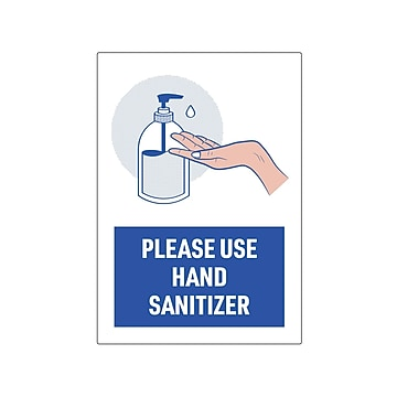 """Avery Safety Wall Sign, 7"""" x 10"""", White/Blue, 5/Pack (83179)"""