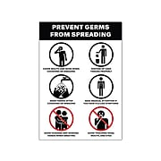"""Avery Safety Wall Sign, 7"""" x 10"""", White/Black, 5/Pack (83174)"""