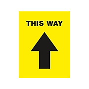 """Avery Directional Floor Decal, 8.5"""" x 11"""", Yellow/Black, 5/Pack (83022)"""
