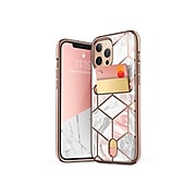 i-Blason Cosmo Marble Pink Wallet Case for iPhone 12 Pro Max (iPhone2020-6.7-CosCard-Marble)