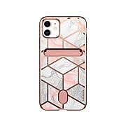 i-Blason Cosmo Marble Pink Wallet Case for iPhone 12 mini (iPhone2020-5.4-CosCard-Marble)
