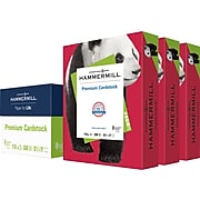 "Hammermill Premium Cardstock Paper, 110 lbs., 8.5"" x 11"", Red, 200 Sheets/Pack, 3 Packs/Carton (168300)"