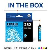 Epson T252 Cyan Standard Yield Ink Cartridge