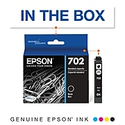 Epson T702 Black Standard Yield Ink Cartridge (T702120-S)