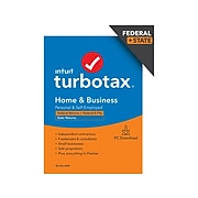 TurboTax Home & Business 2020 Federal and State for 1 User, Windows, Download (0608701)