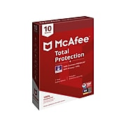 McAfee Total Protection Safe Connect Premium for 10 Devices, Windows/Mac/Android/iOS, Product Key Card (MTC0AESTXRAAM)