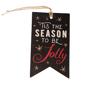 JAM PAPER Holiday Gift Tags, 4 1/4  x 2 3/8 , 'Tis The Season- 16/pack (207734324)