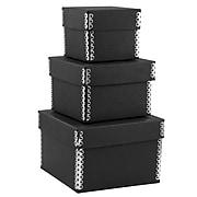 JAM PAPER Nesting Box Set, Small, Medium & Large, Black Kraft, 3/pack