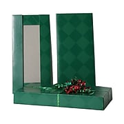JAM PAPER Gift Box, 5 1/2 x 11 1/2 x 1 1/2, Green Diamond