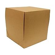 JAM PAPER Gift Box with Full Lid, 9 x 9 x 9, Kraft
