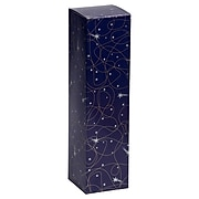 JAM PAPER Holiday Wine Boxes, 3 1/4 x 3 1/4 x 13 1/4, Night Sky Shooting Stars