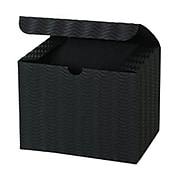 JAM PAPER Gift boxes, 4 1/2 x 4 1/2 x 6, Black Corrugated Wave