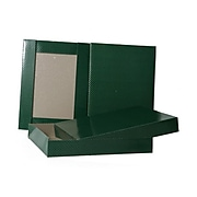 JAM PAPER Gift Box, 8 1/2 x 11 1/2 x 1 5/8, Green With Gold Dots