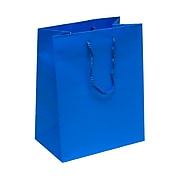 JAM PAPER Gift Bags with Rope Handles, Large, 10 x 13 x 5, Blue Matte, 3/Pack (673MABUA)