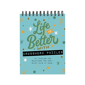 TF Publishing Life is Better Crossword Puzzle Pad, Entertainment, Multi-Grade (99-3999)