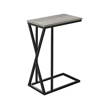 "Monarch Specialties Inc.18.25"" x 10.25"" Accent Table, Gray/Black (I 3248)"