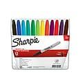 Sharpie Permanent Marker, Fine Tip, Assorted, Dozen (30075)