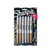 Sharpie Permanent Marker, Fine Tip, Assorted Metallic, 6/Pack (1829201)