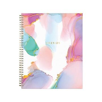 "2021-2022 Blue Sky 8.5"" x 11"" Academic Planner, Ashley G, Multicolor Smoke (133681)"