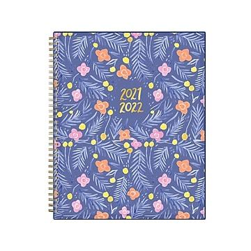 "2021-2022 Blue Sky 8.5"" x 11"" Academic Planner, Thimblepress Sweet Pea Blue, Multicolor (130505)"