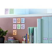 """Post-it® Super Sticky Recycled Notes, 3"""" x 3"""", Bali Collection, 65 Sheets/Pad, 6 Pads/Pack (654-6SSNRP)"""