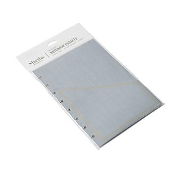 Martha Stewart Discbound Notebook Pocket, Gold/Gray, 3/Pack (MS107Z)
