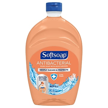 Softsoap Antibacterial Hand Soap with Moisturizers, Crisp Clean, Refill, 50 oz (US05261A)