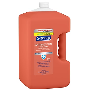 Softsoap Antibacterial Hand Soap, Crisp and Clean, Refill, 1 Gallon (201903)