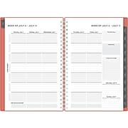 """2021-2022 Blue Sky 5"""" x 8"""" Academic Planner, Coral (126639)"""