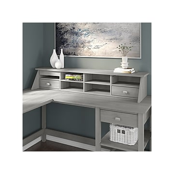 Bush Furniture Broadview 8-Compartment Desktop Organizer with Shelves and Drawers, Modern Gray (BDH154MG-03)