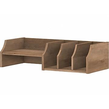Bush Furniture Yorktown 5-Compartment Desktop Organizer with Shelves, Reclaimed Pine (WC40502-Z)