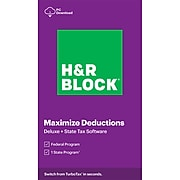 H&R Block Tax Software: Deluxe + State 2020 for 1 User, Windows, Download (1316800-20)